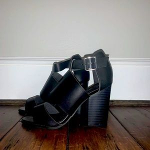Head Over Heels strappy heeled sandals